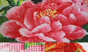 Техника алмазной вышивки, пошагово