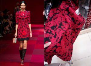 Dolce & Gabbana, krasnoe plat'e