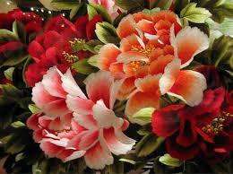 Cvety, vyshivka kitajskoj glad'yu