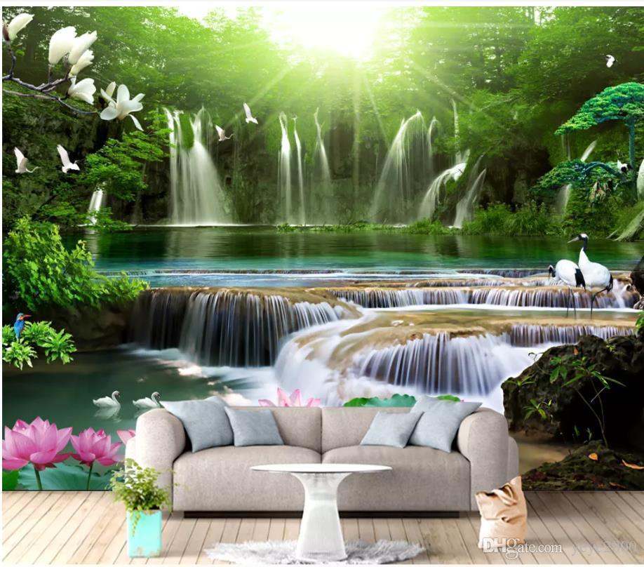 vodopad-kartina-vypolnena-v-tekhnike-almaznoj-mozaiki