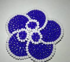 Sinij cvetok, vyshivka biserom