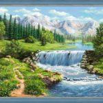 kartina-iz-almazov-vodopad